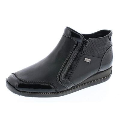 Rieker Women's 44278-00 Black Leather