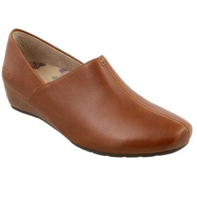 Taos Women's Scheme Wedge Slip On Hazelnut Leather