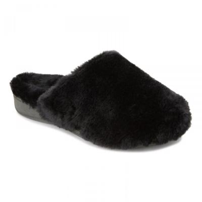 Vionic Women's Gemma Plush Slippers Black