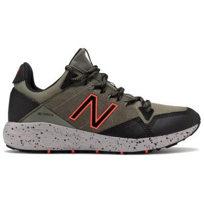 New Balance Kid's Fresh Foam Crag Trail Sneaker Green with Black/Orange