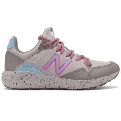 New Balance Kid's Fresh Foam Crag Trail Sneaker Grey with Blue/Pink