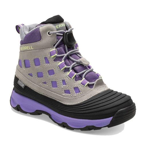 Merrell Kid's Thermoshiver 2.0 Waterproof Boot Grey/Purple