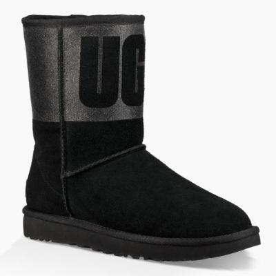 UGG Women's Classic Short Ugg Sparkle Boot Black
