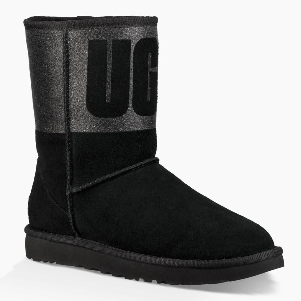 Classic Short Ugg Sparkle Boot Black