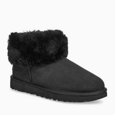 UGG Women's Classic Mini Fluff Boot Black