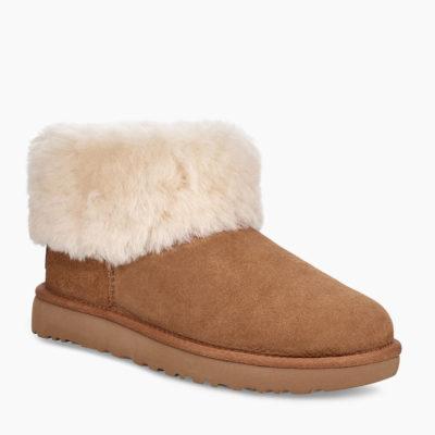 UGG Women's Classic Mini Fluff Boot Chestnut