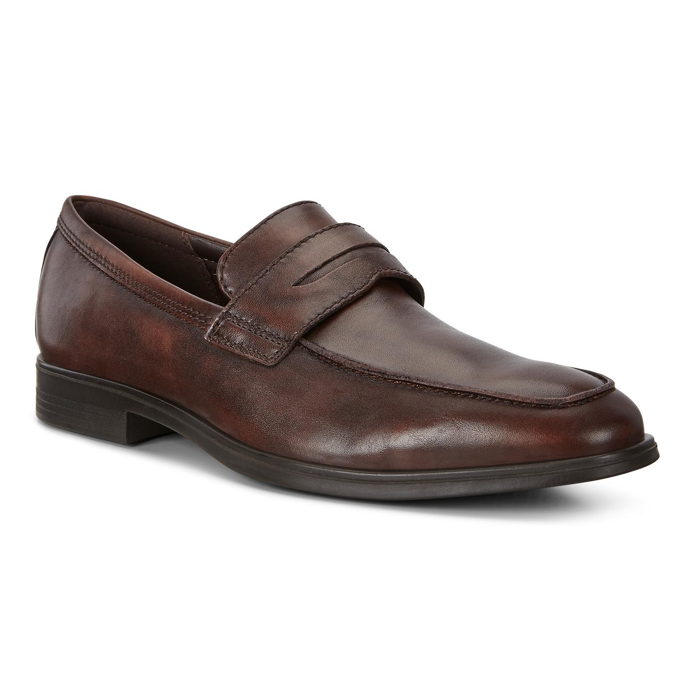 ECCO Men's Melbourne Loafer Cocoa Brown Leather