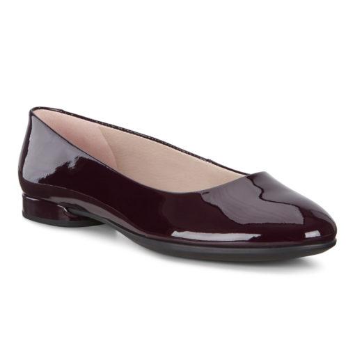 ECCO Women's Anine Ballerina Fig Patent Leather