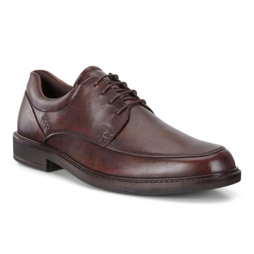 ECCO Men's Holton Apron Toe Tie Cocoa Brown Leather