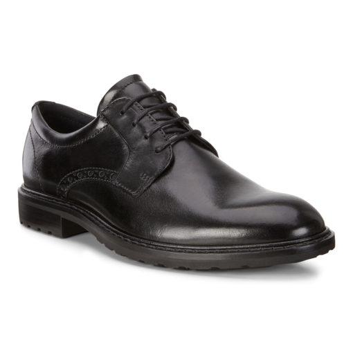 ECCO Men's Vitrus I Plain Toe Tie Black Leather