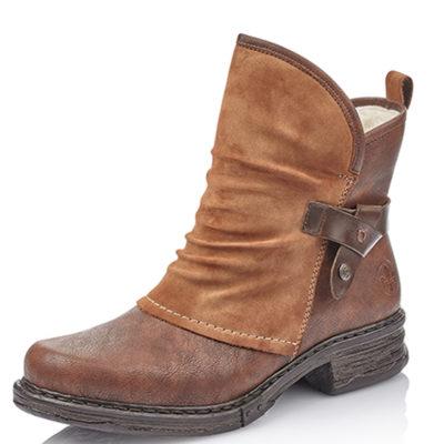 Rieker Women's Z9973-25 Brown Leather