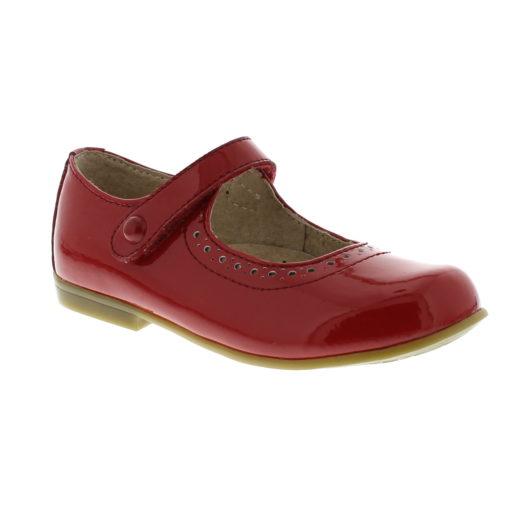 Footmates Kid's Emma Red Leather