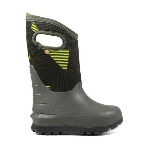 Bogs Kid's Neo-Classic Winter Boot Big Geo Green Multi