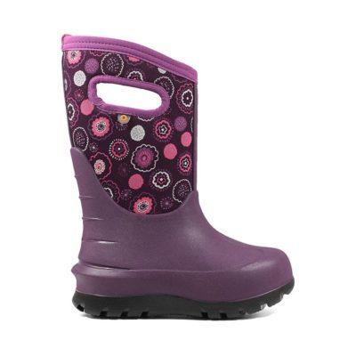 Bogs Kid's Neo-Classic Bullseye Insulated Rain Boots Purple