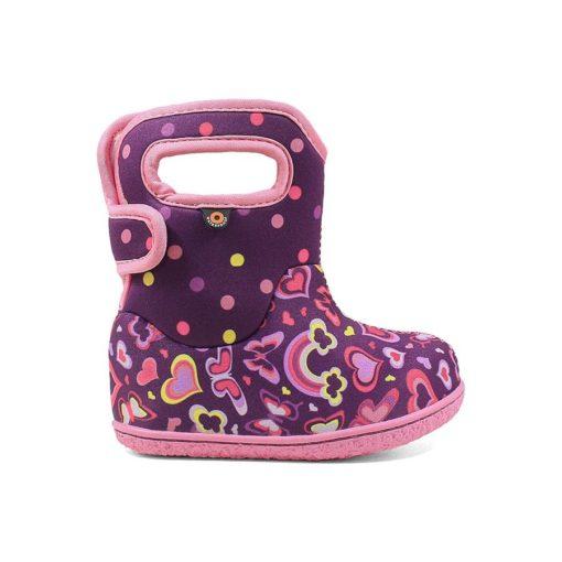 Bogs Baby Rain Boots Rainbow Purple