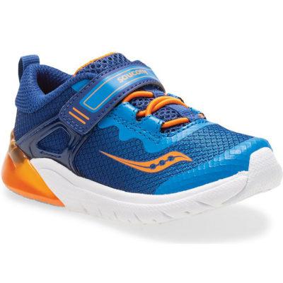 Saucony Little Kid's Flash Glow JR A/C Sneaker Blue/Orange