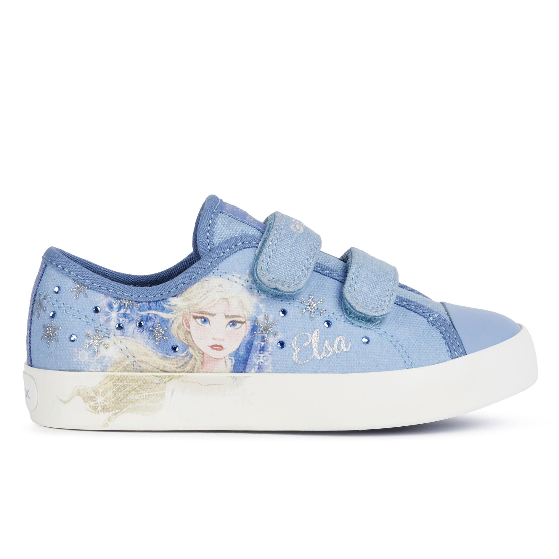 Geox Ciak Girl Frozen Shoes Blue Elsa