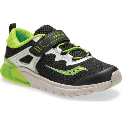 Saucony Kid's Flash Glow A/C Sneaker Black/Green