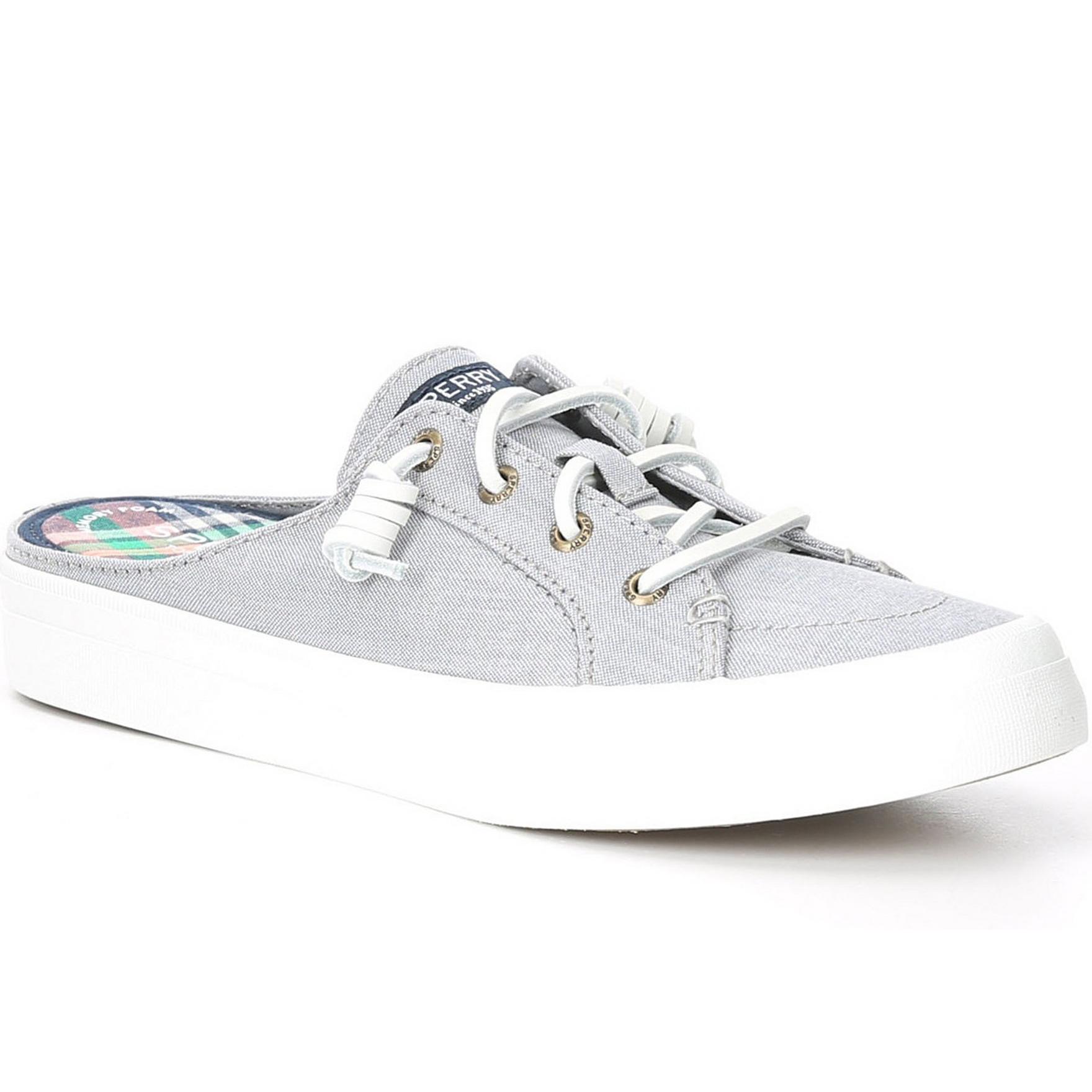 Crest Vibe Chambray Mule Sneaker Grey
